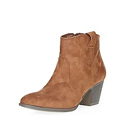 Dorothy Perkins - Chestnut amber western boots