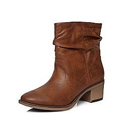 Dorothy Perkins - Tan ava slouch boot