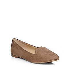 Dorothy Perkins - Taupe 'pacca' slipper pumps