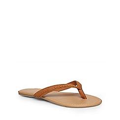 Dorothy Perkins - Tan 'sax' flat sandals