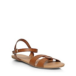 Dorothy Perkins - Tan 'shiny' strap sandals