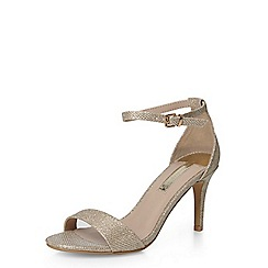 Dorothy Perkins - Gold 'stacie' low sandals