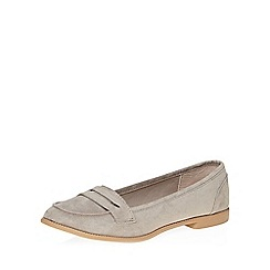 Dorothy Perkins - Grey lily tab loafers