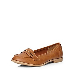 Dorothy Perkins - Tan 'lily' tab loafers