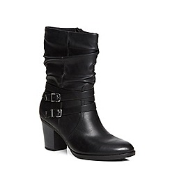 Dorothy Perkins - Black katsi rouched calf boots