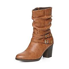 Dorothy Perkins - Tan katsi rouched calf boots