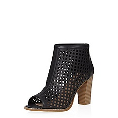 Dorothy Perkins - Black alicia peep toe boots