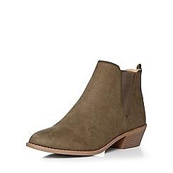 Dorothy Perkins - Khaki 'millie' prarie boots