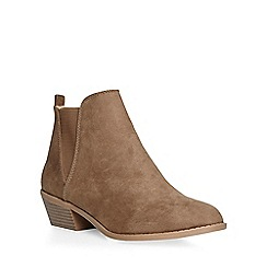 Dorothy Perkins - Taupe 'millie' prarie boots