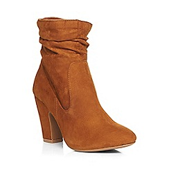 Dorothy Perkins - Tan 'amlie' ruched boots
