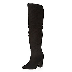 Dorothy Perkins - Black kiwi rouched boots