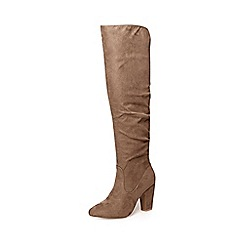 Dorothy Perkins - Stone kiwi rouched boots