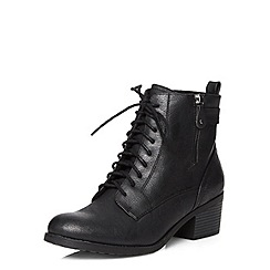 Dorothy Perkins - Black 'believe' laced boots