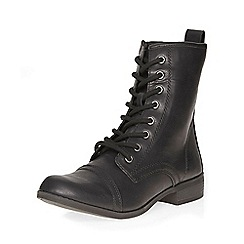 Dorothy Perkins - Black marina lace up boots