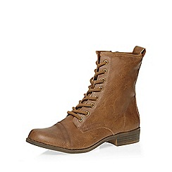 Dorothy Perkins - Tan marina lace up boots