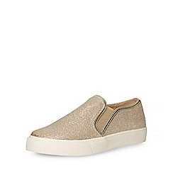 Dorothy Perkins - Gold 'camron' trainers