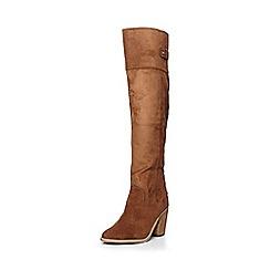 Dorothy Perkins - Tan krystal long boots