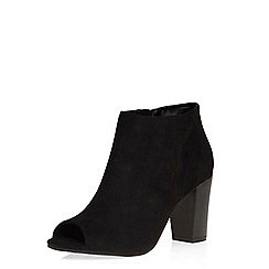 Dorothy Perkins - Black alex peep toe boots