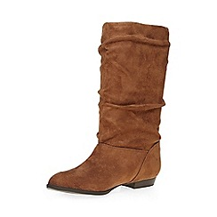 Dorothy Perkins - Tan tess slouch boots