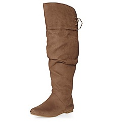 Dorothy Perkins - Taupe tania slouch boots