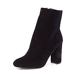 Dorothy Perkins - Navy ariana velvet boots