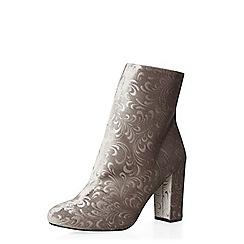Dorothy Perkins - Grey ariana velvet boots