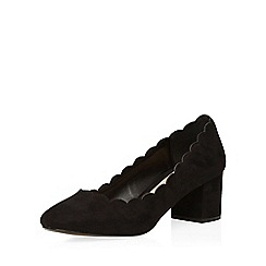 Dorothy Perkins - Black 'destiny' scalloped courts
