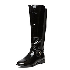 Dorothy Perkins - Black patent 'tahiti' boots