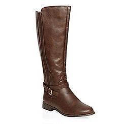 Dorothy Perkins - Choc tahiti gusset boots