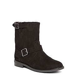 Dorothy Perkins - Black 'maddy' furlined boots