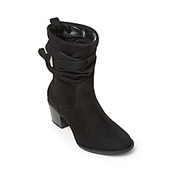 Dorothy Perkins - Black 'kole' mid height boots