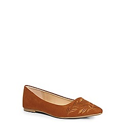 Dorothy Perkins - Tan 'hazel' embroidered pointed pump
