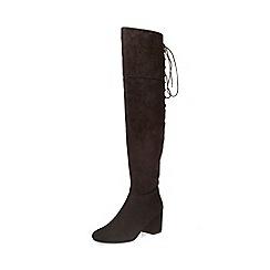 Dorothy Perkins - Black kippy lace back boots
