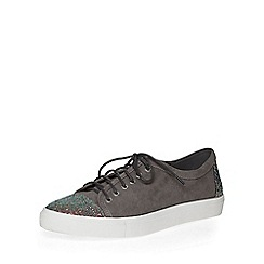 Dorothy Perkins - Grey charlotte lace up trainers