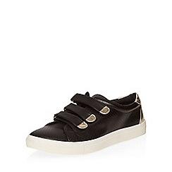 Dorothy Perkins - Black cesear velcro trainers