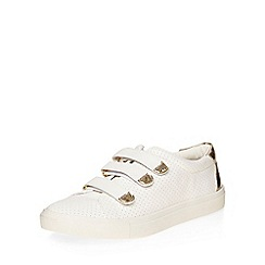 Dorothy Perkins - White cesear velcro trainers