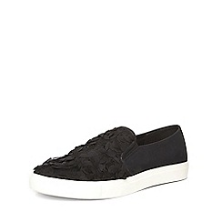 Dorothy Perkins - Black'carnaby' slip-on trainers