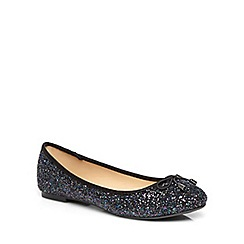 Dorothy Perkins - Black and navy glitter 'pix' pumps