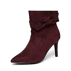 Dorothy Perkins - Burgundy 'astra' shoe boots