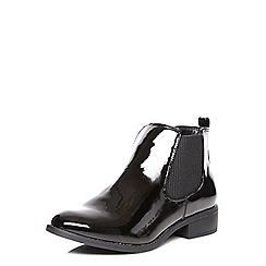 Dorothy Perkins - Black patent mane boots