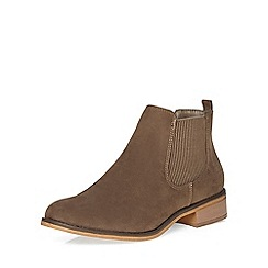 Dorothy Perkins - Taupe mane chelsea boots