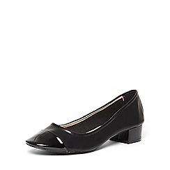 Dorothy Perkins - Black 'dorey' toecap block courts