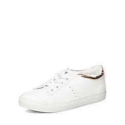 Dorothy Perkins - Rose gold cady lace up trainers