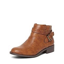 Dorothy Perkins - Tan 'madia' buckle boots