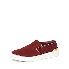 Dorothy Perkins - Burgundy 'clio'slip-on trainers