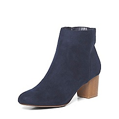 Dorothy Perkins - Navy 'a-lister' heeled boots