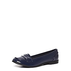 Dorothy Perkins - Navy patent 'lily' loafers
