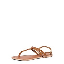 Dorothy Perkins - Tan 'flavia' leather sandals