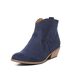 Dorothy Perkins - Blue 'madds' western boot