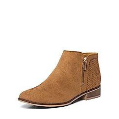 Dorothy Perkins - Tan 'manta' zip ankle boots